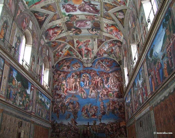 Souvenirs du voyage en italie mars 2012 page 2 - Fresque du plafond de la chapelle sixtine ...