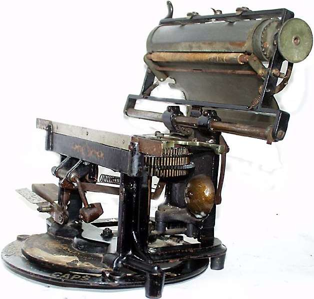 Le miméograph 1894_Edison_Mimeograph_Typewriter_Carriage_Up_OM1213