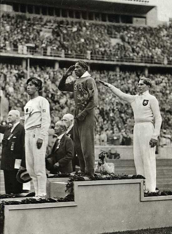 Athlète noir étatsunien durant les JO de Berlin en 1936