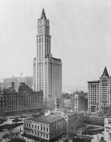Ciel du monde de l époque le woolworth building 241 mètres