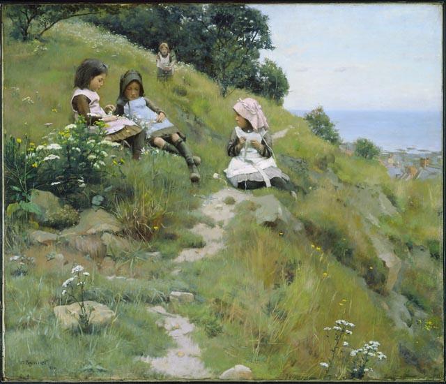 Quatre fillettes dans un pré William%20_Brymner_une_gerbe_de_fleur2021