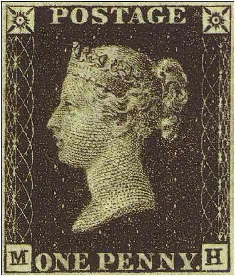 La Reine Victoria est timbrée ! Penny_black