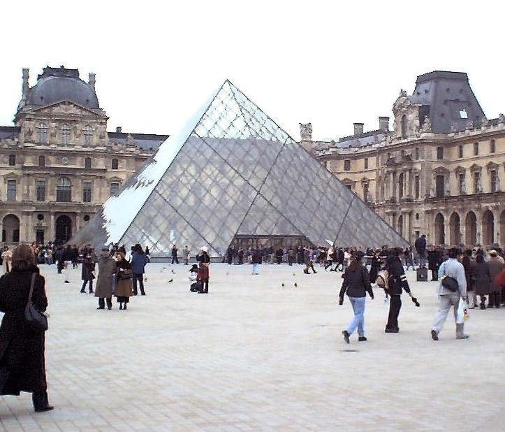 Inauguration de la pyramide du louvre - Inauguration pyramide louvre ...